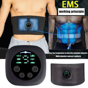 EMS Abdominal Muscle Toning Trainer ABS Stimulator Toner Fitness Binder Gym Belt