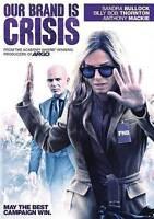 Our Brand Is Crisis (DVD) Sandra Bullock, Billy Bob Thornton, Anthony Mackie, J
