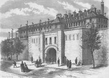 FRANCE. The Mazas Prison, Paris, antique print, 1861