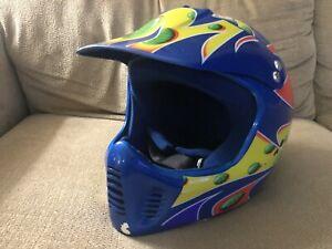 "Jeremy McGrath ""SHOWTIME"" Vintage BELL Helmet MX Supercross BMX Jet ski Troy Lee"
