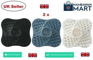 2 x Hair Trap Shower Bath Plug Hole Waste Catcher Stopper Sink Strainer  AC1094