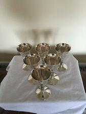 """6 BELLA CALICI placcato argento con steli decorativi lungo 5.25"""" su un piede 2.5"""""""