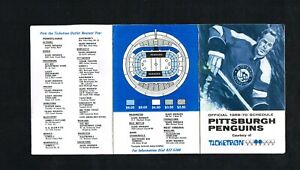1969 – 1970 Pittsburgh Penguins Ticketron NHL Hockey Foldout Pocket Schedule