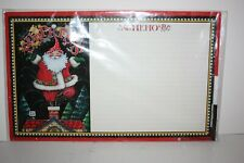 "Mary Engelbreit Christmas Santa Memo Board w/ Marker 17"" x 10.5"" New in Package"