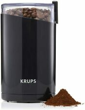 New Krups Twin Blade Coffee Mill Spice Nuts & Herb Grinder Black Oval Shape