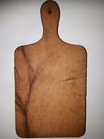 OLD ANTIQUE PRIMITIVE WOODEN WOOD BREAD CUTTING BOARD PLATE #10