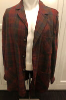 Sir Pendleton Wool Button Down Plaid Long Sleeve Shirt Men's Vintage L