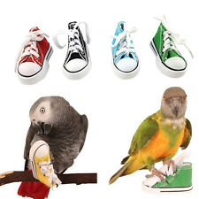 Canvas Shoes Bird Toys Parrot Cage Craft Toys Cockatiel Hanging Foot Mini pols