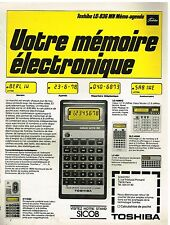 Publicité Advertising 1978 La calculatrice Toshiba LC-836 MN