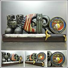 MARINES MARINE CORPS MILITARY HERO PLAQUE SIGN DECORATION SCULPTURE Unique Gift