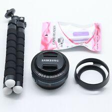 Samsung NX 16mm F 2.4 i-Function Wide Angle Black Lens + Lens Hood NX Mount