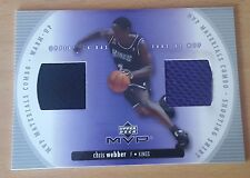 2002-03 Upper Deck MVP Materials Combo #1 Chris WEBBER