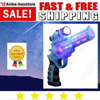 1 Pack Revolver Gun For Boys Kids Sound Light And Noise Toy Bullets Spin Inside