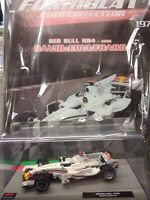 RED BULL RB4 2008 WHITE BRASIL GP DAVID COULTHARD FORMULA 1 AUTO C.#197 MIB 1:43