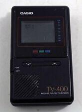 Casio TV-400 Vintage Pocket Colour Television Retro Collectable Display Decor