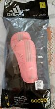 Adidias 11Pro Soccer Single Closure W/ Ankle Strap Shin Guard-Pink-Youth-Xl