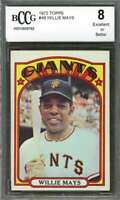 Willie Mays Card 1972 Topps #49 San Francisco Giants BGS BCCG 8