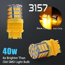 2X 3157 40W High Power Amber Yellow LED Turn Signal Blinker Corner Lights bulbs