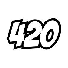 "420 Vinyl Decal ""Sticker"" For Car or Truck Windows, Laptops, etc"