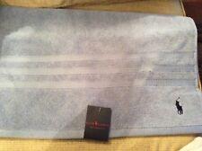 BNWT New Ralph Lauren Polo Player Light Blue Hand Towel 100% Cotton 50x90cm Golf
