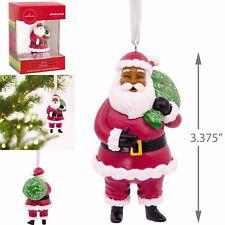 🎄Hallmark Mahogany African American Jolly Santa Christmas Ornament🎄