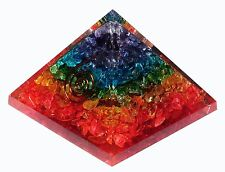 Multistone Stone Orgonite Pyramid Energy Generator Reiki Orgone Healing Crystal