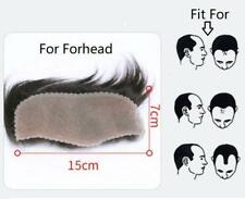 "2.75""X5.9""100% high quality human hair front lace for men forehead hair supply"