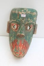 1900's Vintage Rare Old Hand Made Wooden Folk Tribal Wall Hanging Mask NH2205