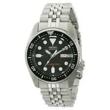 Seiko Mens Automatic 200m Divers Watch with Stainless Steel Band & Black Dial