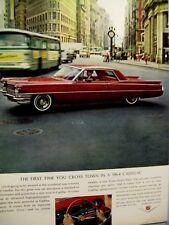 "1964 Cadillac Coupe DeVille Original Print Ad - 8.5 x 10.5"""