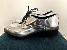 Zara Silver Metallic Platform Brogues Trinny Size 41