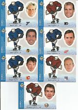 Lot of 7 1997-98 UD Choice Bobblehead Inserts Yzerman, Lindros, Hull,Chelios