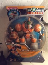 """2006 Planet Heroes Jupiter """"Gustus"""" Action Figure with Companion Dog NEW Gift"""