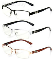 Half Rim Men Women  Eyewear Clear Lens Frame Eye Glasses Designer Fashion Nerd