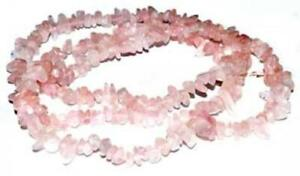 "32"" Rose Quartz Chip Necklace"
