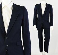 068866c4f90 Men's 40R Yves Saint Laurent Blue Pinstriped Wool Suit 31 X 30 Pants YSL  France