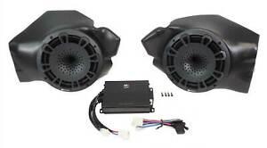 """MB QUART MBQR-POD-2 8"""" Kick Panel Speakers+Amp for Select Polaris RZR ATV UTV"""