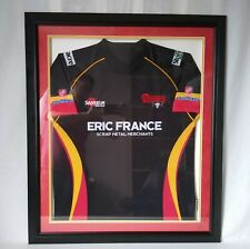 More details for dewsbury rams rugby league shirt framed & signed mount by players eric france