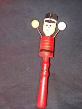 VINTAGE WOODEN SOLDIER NOISE MAKER IN GREAT CONDITION RARE HARD TO FIND