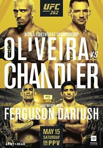 UFC 262 EVENT EXCLUSIVE PPV AUTOGRAPHED POSTER, OLIVEIRA x MICHAEL CHANDLER, SBC
