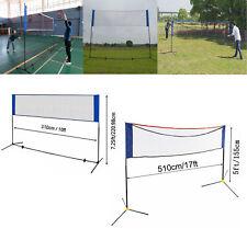 17/10' Portable Height Adjustable Badminton Volleyball Tennis Net Fram Equipment