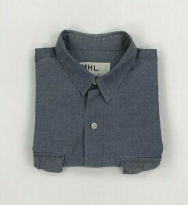 Men's Pale Blue Margaret Howell Shirt XL Long Sleeve Breast Pockets MHL Cotton A