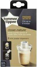 Tommee Tippee Closer Nature Milk Storage Powder Dispensers 6-pack