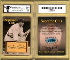 BABE RUTH NY Yankees SUPREME CUTS FACS Autograph Card #/50 GRADED 10 GEM #X