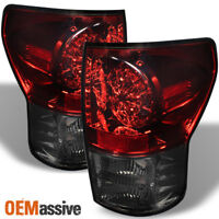 Fits 07-13 Toyota Tundra Pickup Truck Red Smoked LED Tail Brake Lights Lamp Set