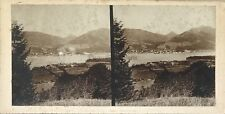 Croatie Istrie Abbazia ? Opatija Paysage Photo Stereo Vintage Citrate