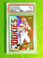 BAKER MAYFIELD PRIZM ROOKIE CARD GRADED PSA 9 SP # /99 RC 2018 Panini Xr  BROWNS