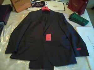 NWT £4000 Isaia Napoli lk Cucinelli Kiton Aquaspider grey suit S 46 UK EU 56