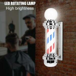 68cm HS-68 LED Barber Pole Rotating Light Salon Sign Illuminated Red White Blue