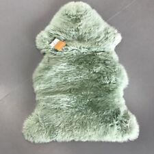 Real New Zealand Single Sheepskin Rug 2'x3' Green